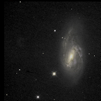 Spiral Galaxy M66 color image)